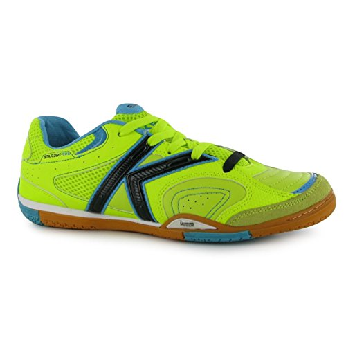 Kelme Star 360evo Indoor Scarpe da calcio FUTSAL Lime/Blu Calcio Sneakers, Blue/Lime, (UK7) (EU41) (US8)