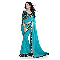 Indian Beauty Light Blue Georgette Summer Collcetion