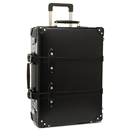 """(グローブトロッター) GLOBE TROTTER グローブトロッター スーツケース GLOBE TROTTER GTCNTBB21TC 木製ハンドル Centenary 21"""" Trolley Case キャリーケース BLACK/BLACK[並行輸入品]"""