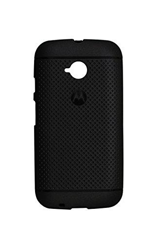 Shopaholic Silicon Black Stylish Back Cover Case For Motorola Moto E 2nd Generation