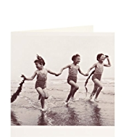 Seaside Girls Blank Card