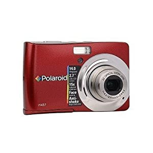 Polaroid CIA-1437RC 14MP CCD Digital Camera with 2.7-Inch LCD Display (Red) (Refurbished)