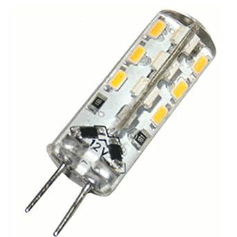 G4 24 High-Power LED [Luxyled RWW24] (110lm - Warm-Weiß - 24 x 3014 SMD LED - 360º Abstrahlwinkel - G4 Sockel - 12V DC - 1,5W - Ø9,5 × 26,05mm)
