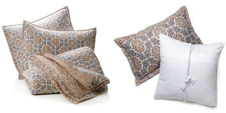 India Hicks Exotic Coconut 3-Piece Coverlet Set Quilt King Size & Matching Sea Breeze Decorative Pillows front-780475