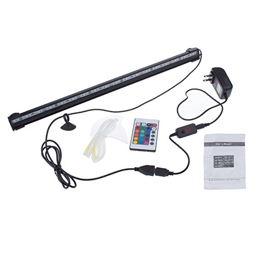 Sunsbell® Aquarium Light 18 Led Smd 5050 Fish Tank Coral Lamp Tube Hot Underwater Lights With 24 Key Remote Controller To Change Colors