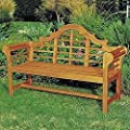 Achla Designs 4-Foot Lutyen Bench, Natural from Minuteman International - ACHLA Designs