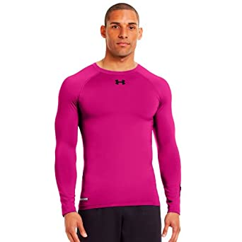 Under Armour Men's HeatGear® Sonic Compression Long Sleeve Small Tropic Pink