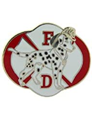 Fire Department Logo with Dalmatian Pin 1