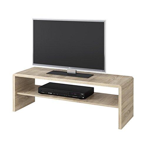 Couchtisch & TV Lowboard LEXA in Eiche Sonoma mit Ablagefach, 120 cm breit