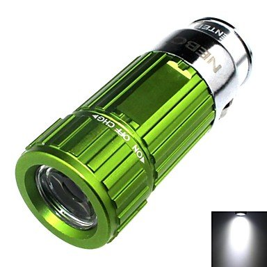 Mch-Zhishunjia Rechargeable 1-Mode 1X Led Mini Car Charger Led Flashlight (60Lm , 4Xcr2032 , Green)