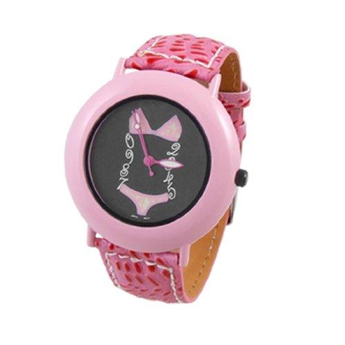 Como Pink Faux Leather Band Bikini Dial Wrist