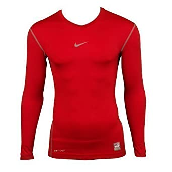 Mens Nike Pro Combat Compression Sports Training Long Sleeve Top Baselayer Tee S
