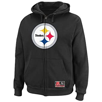 NFL Mens Pittsburgh Steelers Classic Heavyweight III Black Long Sleeve Full Zip... by VF LSG