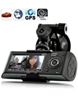 2.7 inch screen Dual Camera 5MP Car Blackbox DVR with GPS Logger and G-Sensor X3000 caméra de voiture