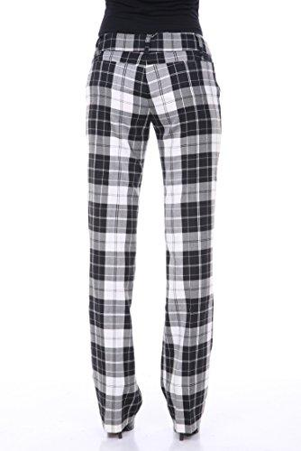 stanzino-women-s-checkered-print-bootleg-pants