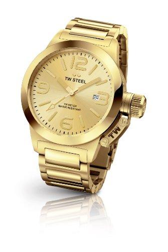 TW Steel TW-308 - Reloj de pulsera mujer, revestimiento de acero inoxidable, color dorado