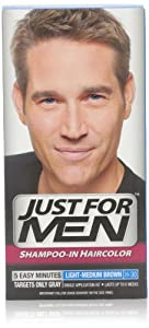 Just for Men Shampoo-In Hair Color, Light-Medium Brown, H-30, 1 Application, (Pack of 3) - Packaging May Vary