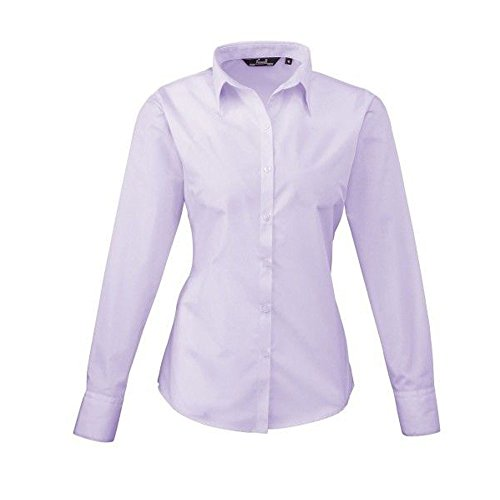 womens-blouse-long-sleeve-poplin-uni-arbeit-damen-shirt