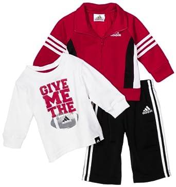 Amazon Adidas Baby boys Infant 3 Piece Varsity Jacket
