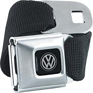 Officially Licnesed Black Volkswagen Seatbelt Belt by Buckle-Down