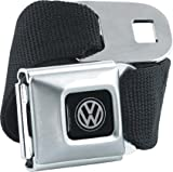 Brand New Officially Licnesed Black Volkswagen Seatbelt Belt, One Size Fits Most