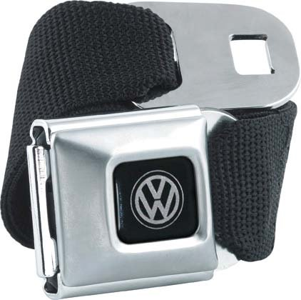 Brand New Officially Licnesed Black Volkswagen Seatbelt Belt, One Size Fits Most (Vw Seatbelt Belt compare prices)