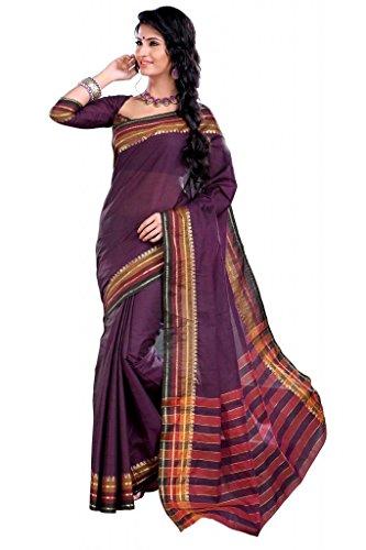 ISHIN Cotton Purple sarees Anandi