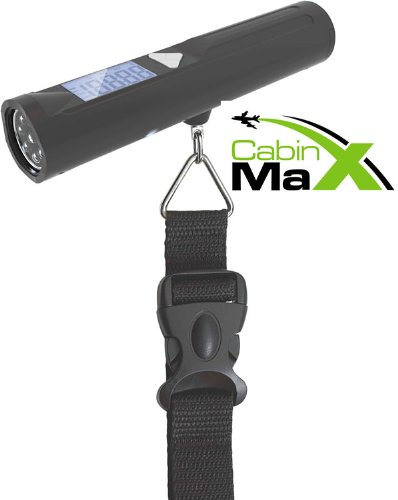 Cabin Max Digital Portable Travel Luggage Scale with built in 8 LED Torch