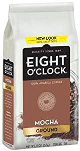 Eight O'Clock Coffee, Mocha Ground, 11-Ounce Bags (Pack of 4)