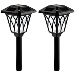 Click to buy Westinghouse NE1102-08W Canterbury Super Bright Solar Light, Black, 2-Packfrom Amazon!
