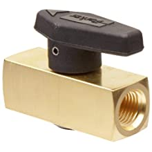 Parker 2F-PR4-VT-B Brass Plug Valve, 1/8&#034; NPT Female