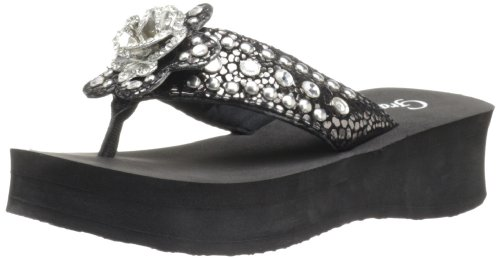 Grazie Women'S Solstice Sandal,Black,7 B Us back-554309