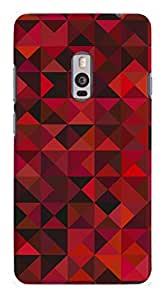 Artangle Abstract Red Triangle Pattern Case for One Plus Two