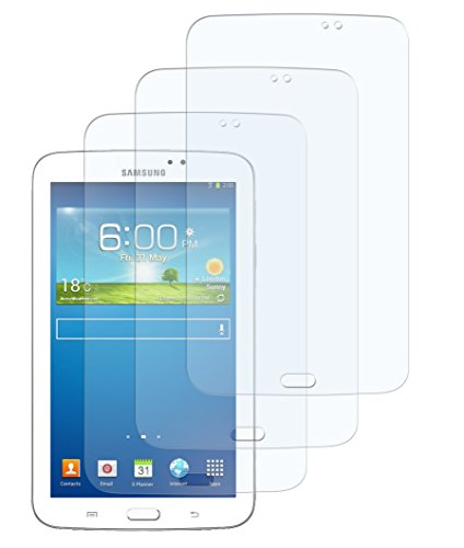 3 x Zttech Schutzfolie Samsung Galaxy Tab 3 7.0 SM-T210 (OHNE Telefonfunktion) Klar Folie Crystalclear Displayschutzfolie