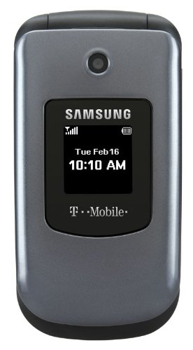 Samsung-T139-Flip-Cell-Phone-T-Mobile-Gray-Silver