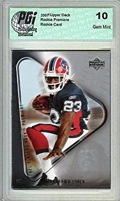 Marshawn Lynch Buffalo Bills 2007 Upper Deck Rookie Premiere Graded Rookie Card