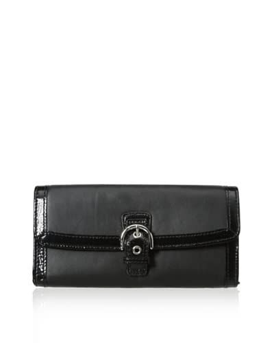 Coach Women's Buckle Wallet, Black