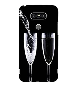 printtech Wine Drink Glass Back Case Cover for G G5 Dual H860N