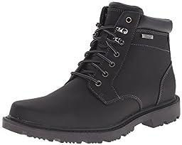 Rockport Men\'s Redemption Road Waterproof Plain Toe Boot, Black, 8.5 M US