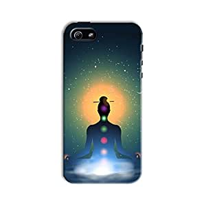 ArtzFolio Meditating In Lotus Position : Apple iPhone 5 / 5S Matte Polycarbonate Original Branded Mobile Cell Phone Designer Hard Shockproof Protective Back Case Cover Protector