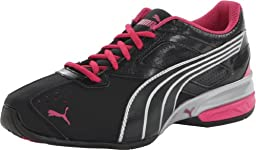 PUMA Women\'s Tazon 5 Cross-Training Shoe,Black/Silver/Beetroot Purple,7 B US