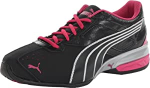 PUMA Women's Tazon 5 Cross-Training Shoe,Black/Silver/Beetroot Purple,8.5 B US
