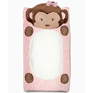 Cocalo Plushy Changing Pad Cover, Girl Monkey (Discontinued by Manufacturer)