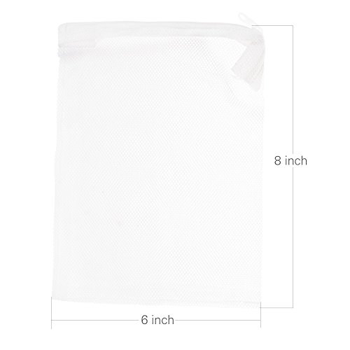 kloud-city-r-10pcs-8-x-6-white-color-fish-tank-filter-mesh-bags-with-plastic-zippers-aquarium-pond-f
