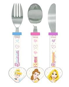 Spearmark 3-Piece Disney Princess Heart Shaped Cutlery Set