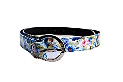 Blue Floral print belt to match with your dress