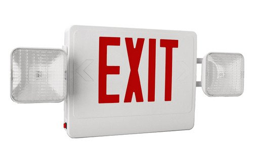 Red Led Exit Sign Combo, Exit-Combo-Tp-G-W, Attractive Stylish Look, Ul 924 Listed For The United States, Works For Single And Double Face Applications, Nfpa, Life Safety 101, Five-Year Warranty On Parts, Best For Your Commercial Or Industrial Application