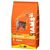 Iams Cat Adult Cat Food with Savoury Roast Chicken 3Kg