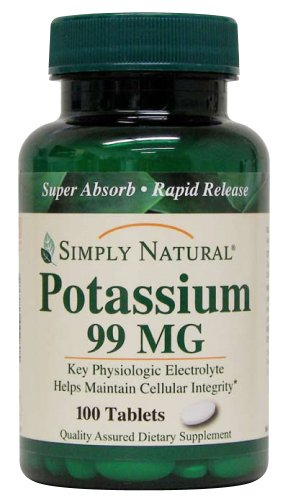 Simply Natural Potassium 99 Mg, 100 Tablets