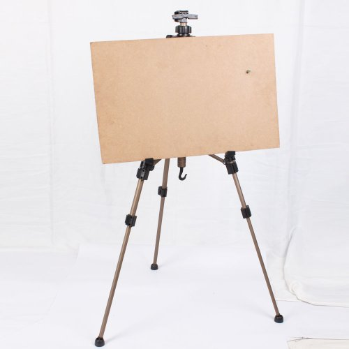 New Artist Zinc Alloy Folding Hand Easel Light Weight And Carry Bag Large Size Champagne